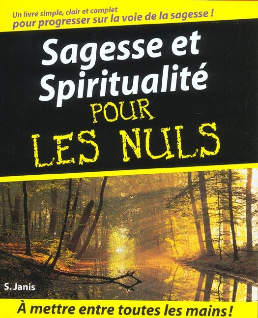 SAGESSE ET SPIRITUALITE POUR LES NULS