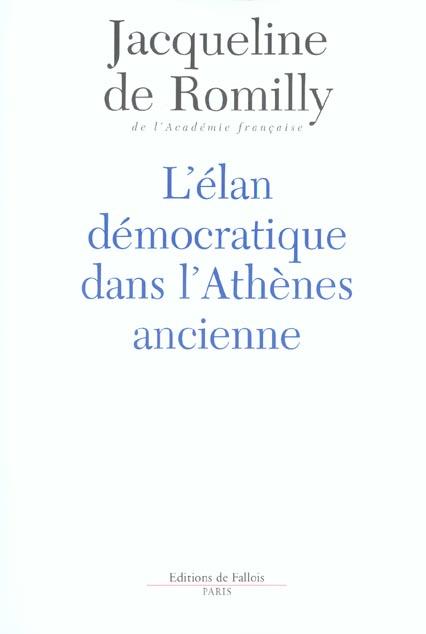 L'ELAN DEMOCRATIQUE DANS L'ATHENES ANCIENNE