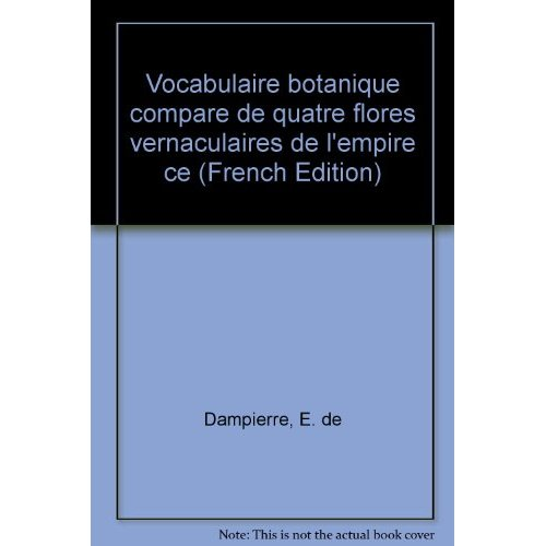 VOCABULAIRE BOTANIQUE COMPARE DE QUATRE FLORES VERNACULAIRES DE L'EMP IRE CENTRAFRICAIN