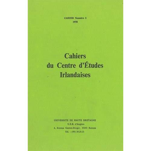 CAHIERS IRLANDAIS 3