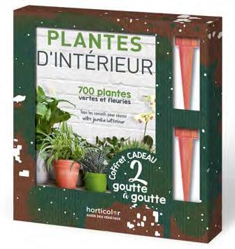 COFFRET PLANTES D'INTERIEUR AVEC 2 GOUTTE A GOUTTE