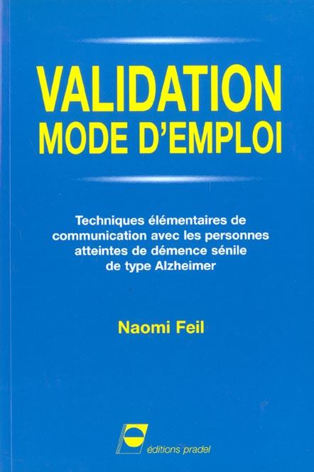 VALIDATION MODE D'EMPLOI TECHNIQUES ELEMENTAIRES DE COMMUNICATION AVEC LES PERSO - TECHNIQUES ELEMEN
