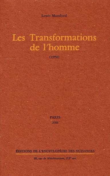 LES TRANSFORMATIONS DE L'HOMME