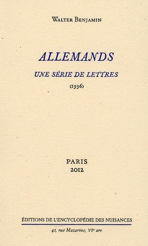 ALLEMANDS - UNE SERIE DE LETTRES