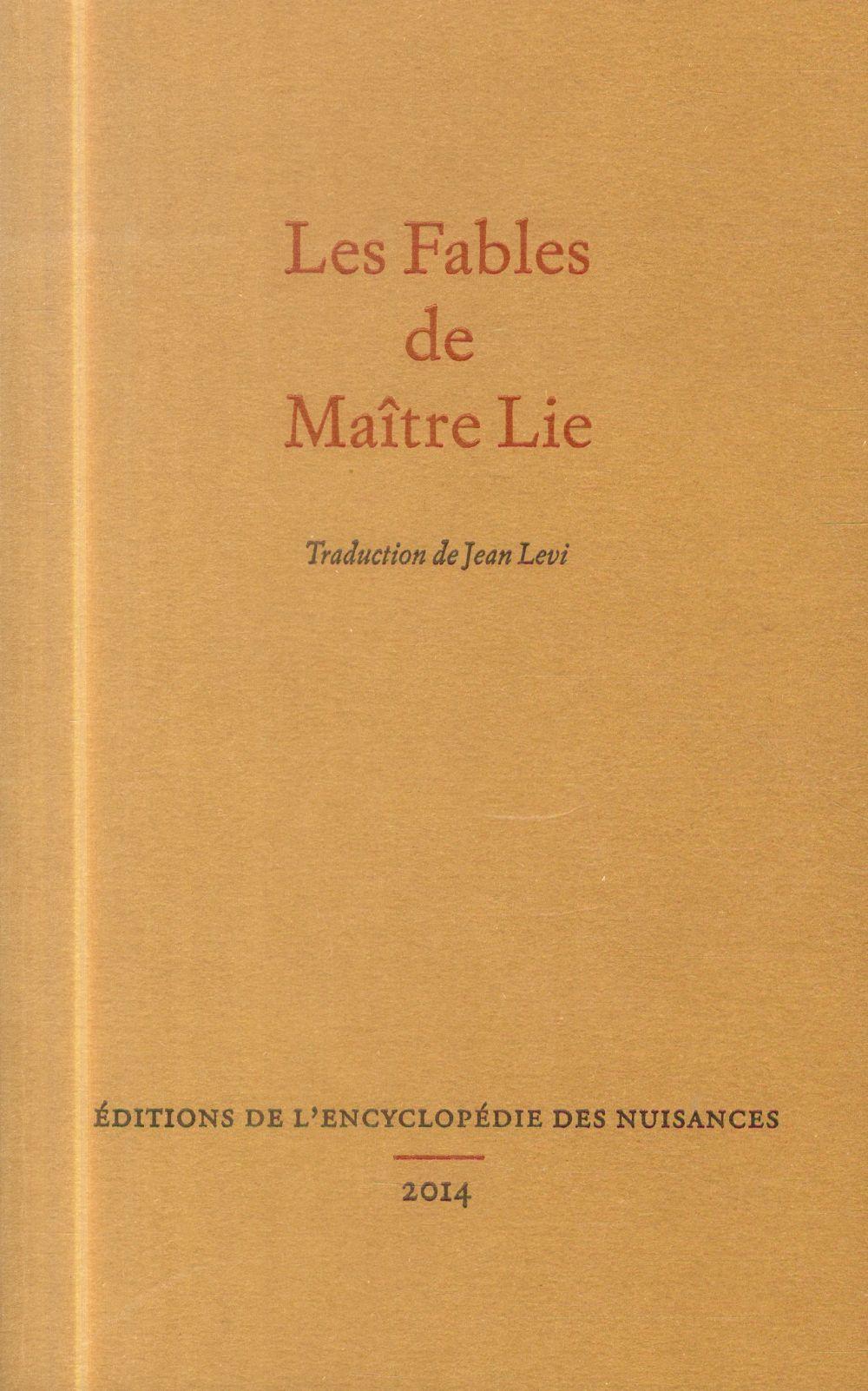 LES FABLES DE MAITRE LIE