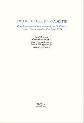 ARCHITECTURE ET MODESTIE