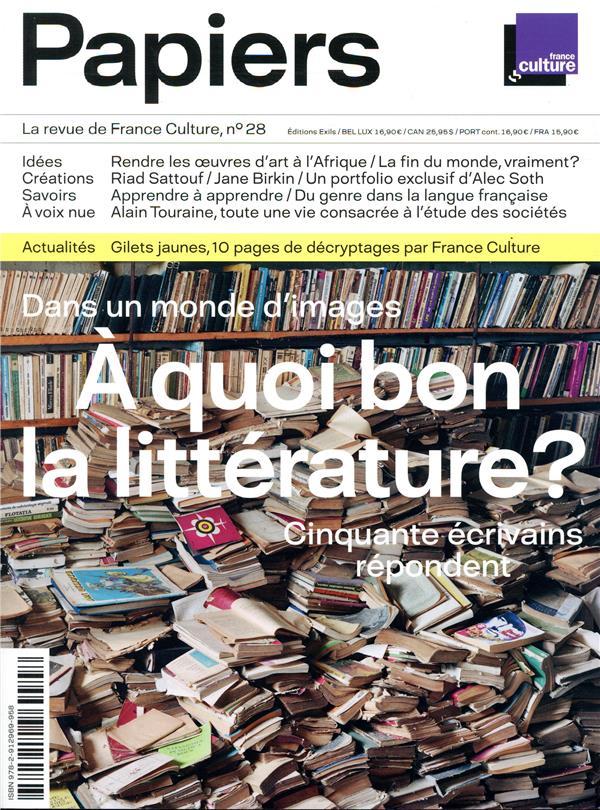 PAPIERS 28 - LA REVUE DE FRANCE CULTURE