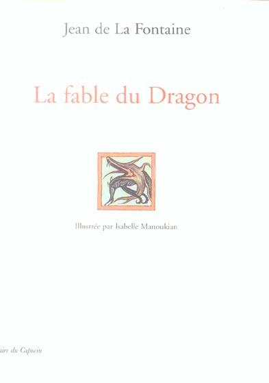 LA FABLE DU DRAGON