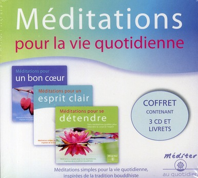 COFFRET 3 CD MEDITER AU QUOTIDIEN