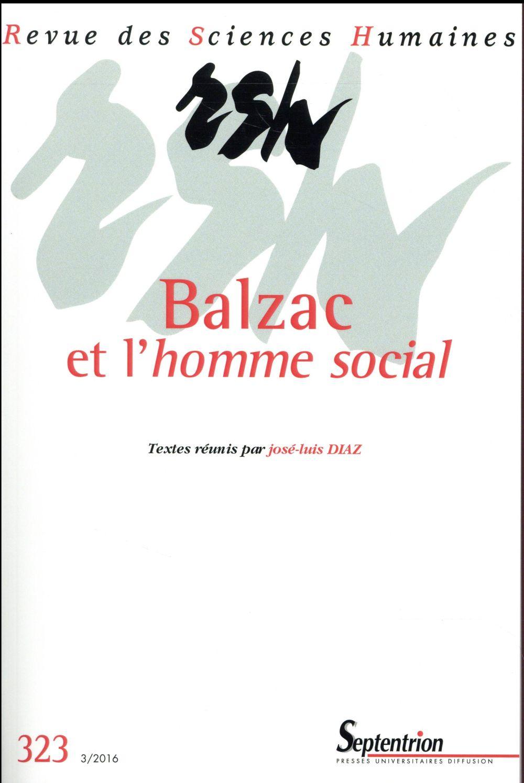 BALZAC ET L HOMME SOCIAL