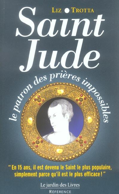 SAINT JUDE, PATRON DES PRIERES IMPOSSIBLES