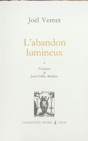 L'ABANDON LUMINEUX