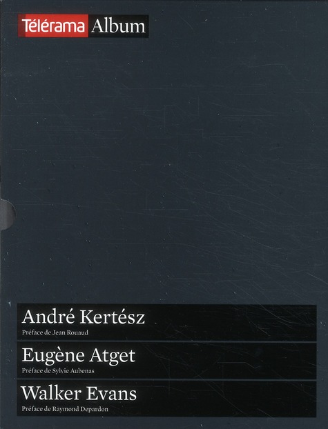 COFFRET TELERAMA ALBUM PHOTOS : KERTESZ - ATGET - EVANS