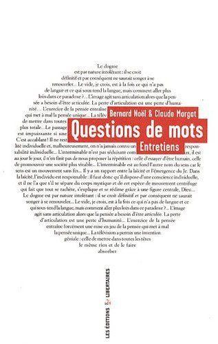 QUESTIONS DE MOTS ENTRETIENS