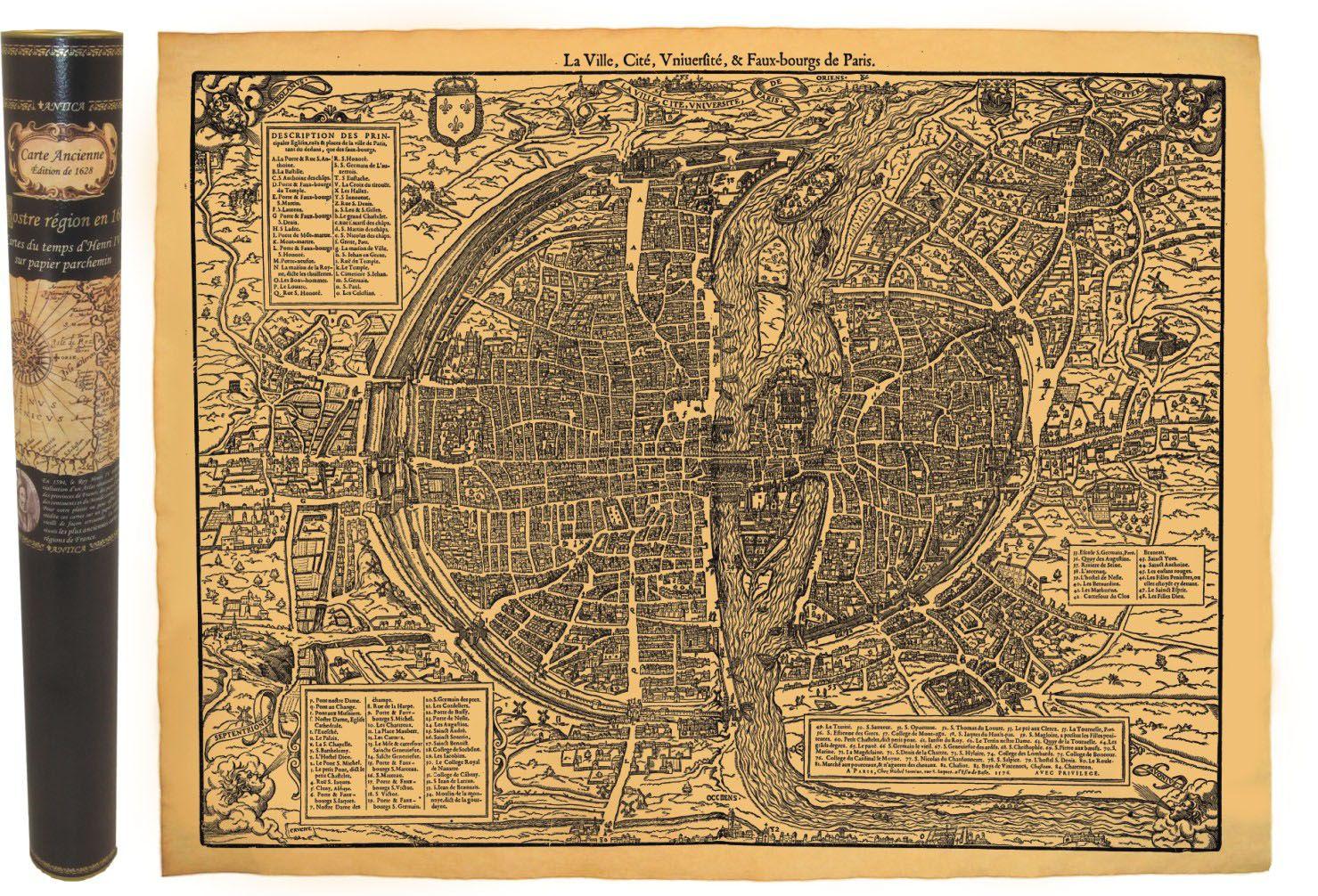 PARIS EN 1576 58,5 CM X 42 CM
