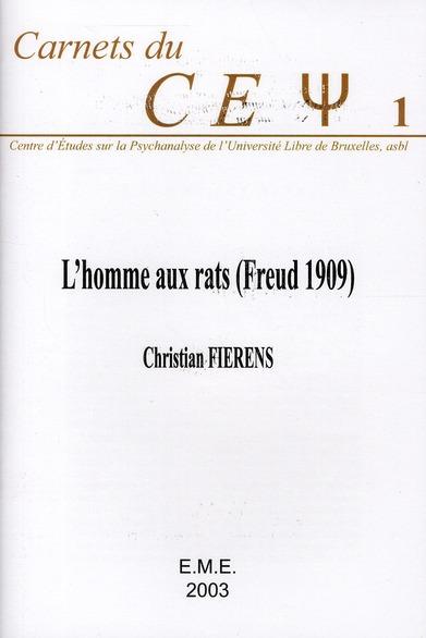 HOMME AUX RATS FREUD 1909
