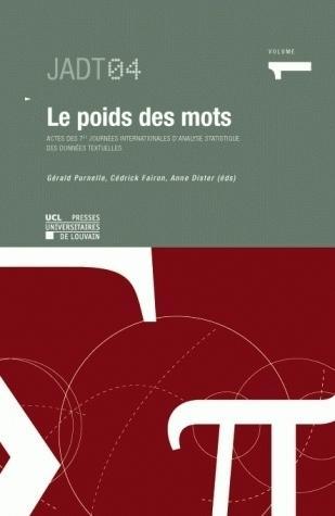 LE POIDS DES MOTS VOL 1