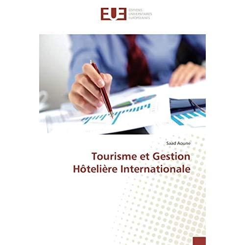 TOURISME ET GESTION HOTELIERE INTERNATIONALE