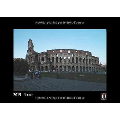 ROME 2019 EDITION NOIRE CALENDRIER MURAL TIMOKRATES CALENDRIER PHOTO CALENDRIER