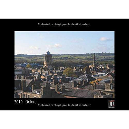 OXFORD 2019 EDITION NOIRE CALENDRIER MURAL TIMOKRATES CALENDRIER PHOTO CALENDRIE