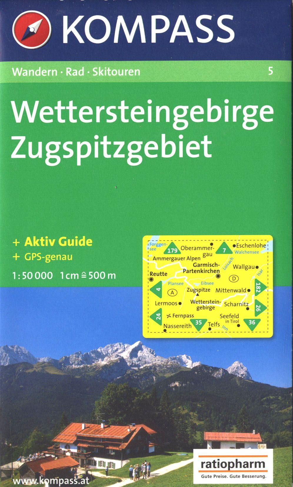 WETTERSTEINGEBIRGE/ZUGSPITZGEBIET 5  1/50.000