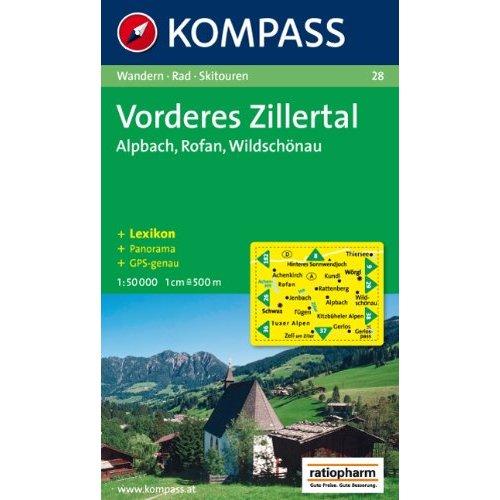 VORDERES ZILLERTAL/ROFAN 28  1/50.000