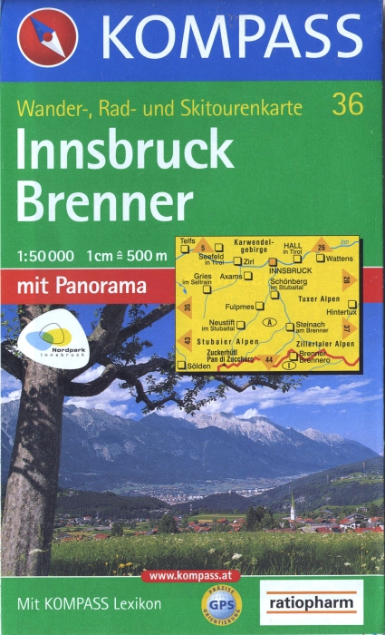 INNSBRUCK/BRENNER 36  1/50.000