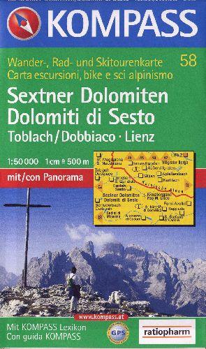 SEXTNER DOLOMITEN 58  1/50.000