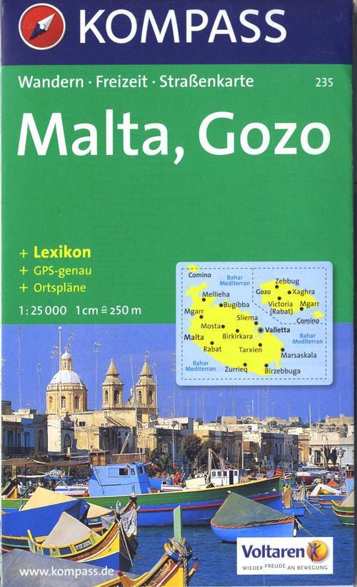 MALTA/GOZO 235  1/25.000