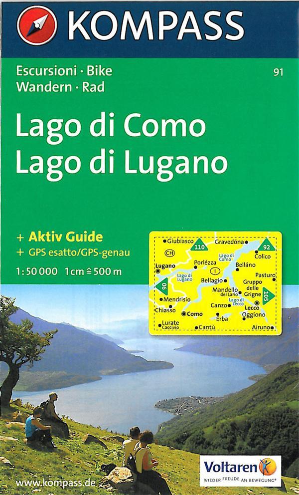 LAGO DI COMO E DI LUGANO 91  1/50.000