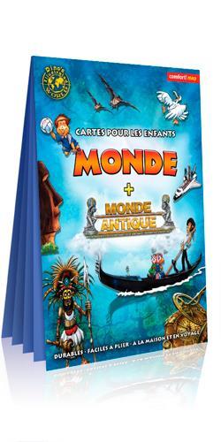 CARTE XXL MONDE POUR ENFANTS (VERSO/MONDE ANTIQUE)