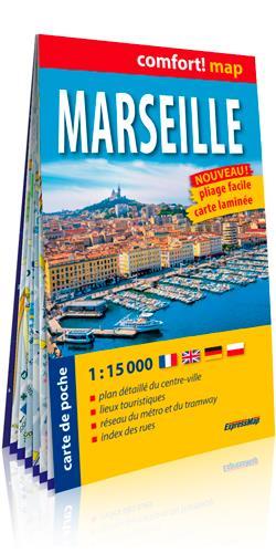 MARSEILLE 1/15.000 (CARTE FORMAT DE POCHE LAMINEE)