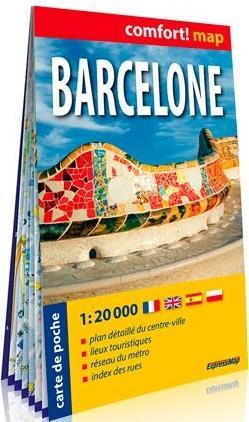 BARCELONE (ANG) 1/20.000 (CARTE FORMAT DE POCHE LA