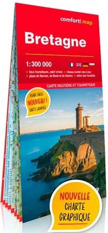 BRETAGNE 1/300.000 (CARTE GRAND FORMAT LAMINEE)