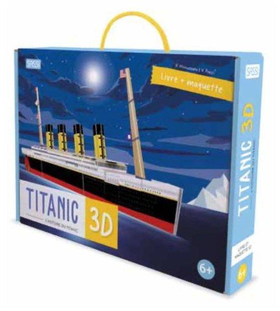 VOYAGE, DECOUVRE, EXPLORE LE TITANIC 3D L'HISTOIRE DU TITANIC - LIVRE ET MAQUETTE