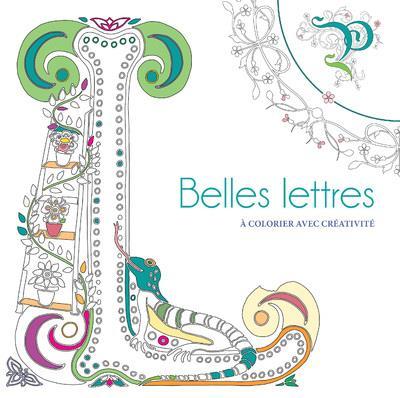 BELLES LETTRES A COLORIER AVEC CREATIVITE