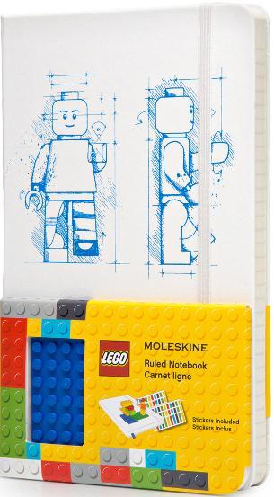 CARNET LEGO - EDITION LIMITEE - GRAND FORMAT - COUVERTURE RIGIDE BLANC