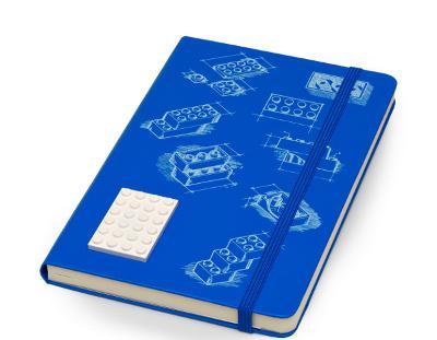CARNET LEGO - EDITION LIMITEE - GRAND FORMAT - COUVERTURE RIGIDE BLEUE