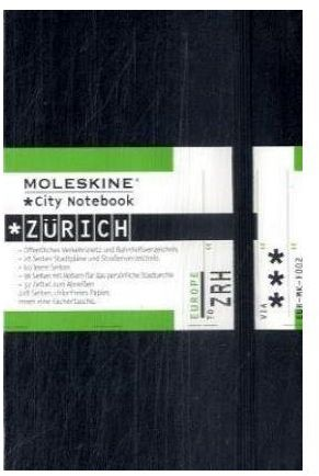 CITY NOTEBOOK ZURICH POCHE COUV. RIGIDE NOIR