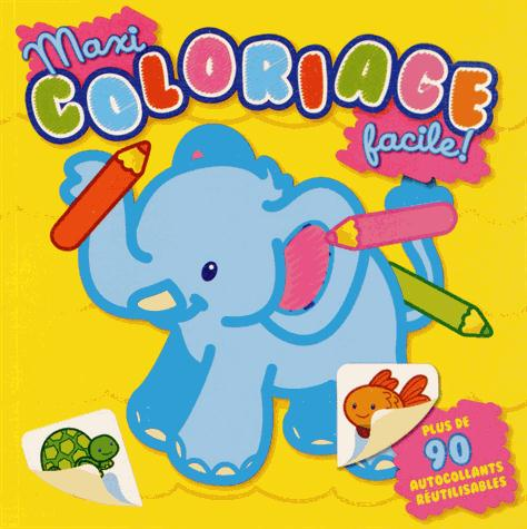 MAXI COLORIAGE FACILE ! ELEPHANT