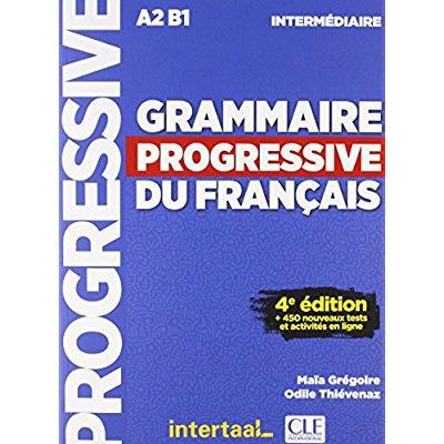 GRAMMAIRE PROGRESSIVE DU FRANCAIS NIVEAU INTERMEDIAIRE + CD 4ED - INTERTAAL