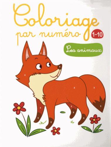 ANIMAUX (LES) COLORIAGE PAR NUMERO 1-10