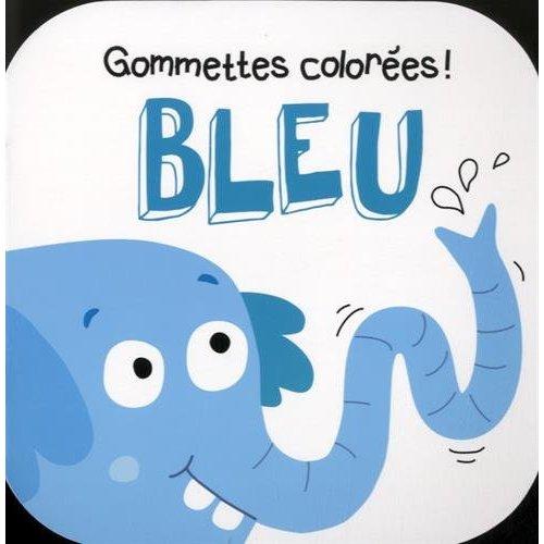 BLEU ELEPHANT GOMMETTES COLOREES !