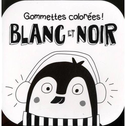 BLANC ET NOIR PINGOUIN GOMMETTES COLOREES !