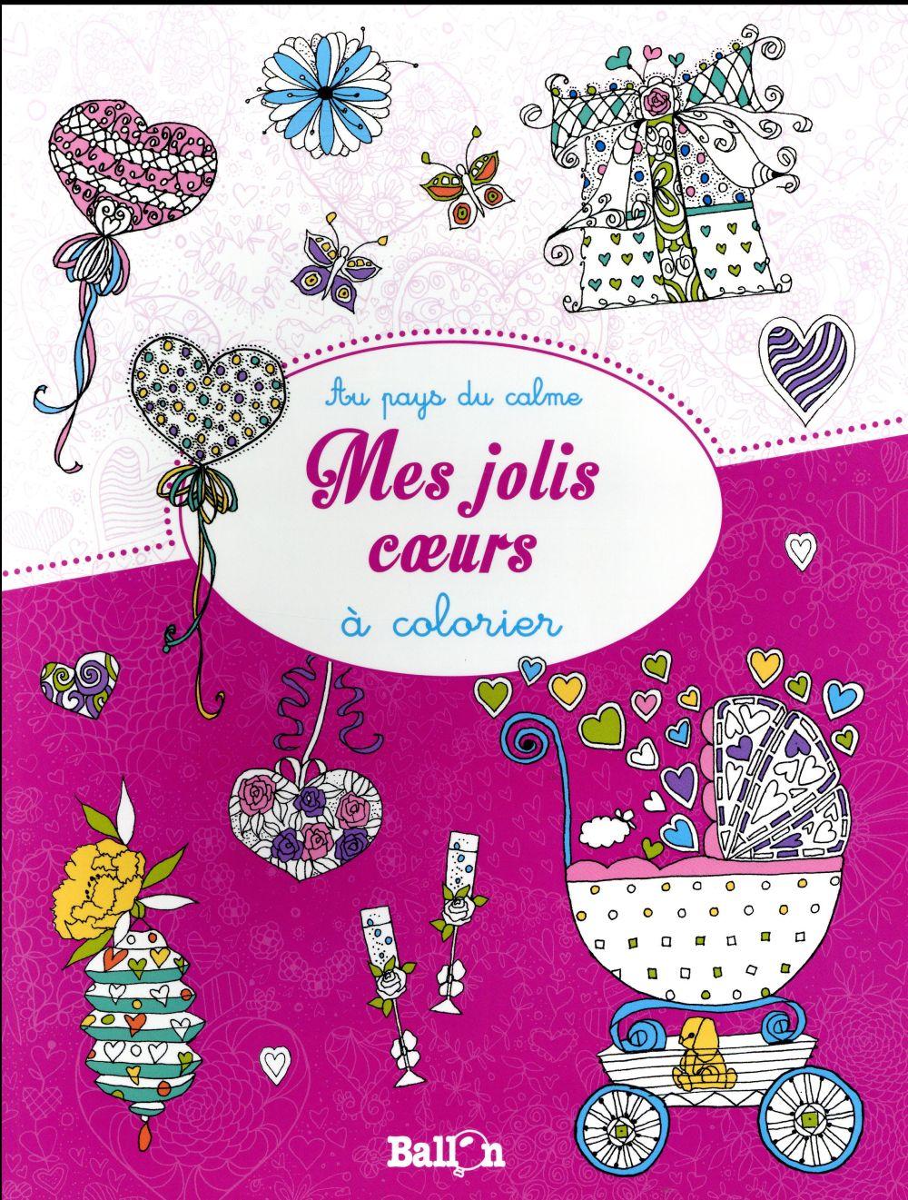 MES JOLIS COEURS A COLORIER