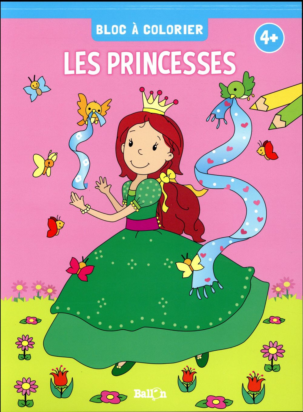 BLOC A COLORIER - LES PRINCESSES