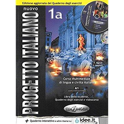 NUOVO PROGETTO ITALIANO / 1 (A1-A2) / 1A (A1)  ELEVE+EX+CD+DVD