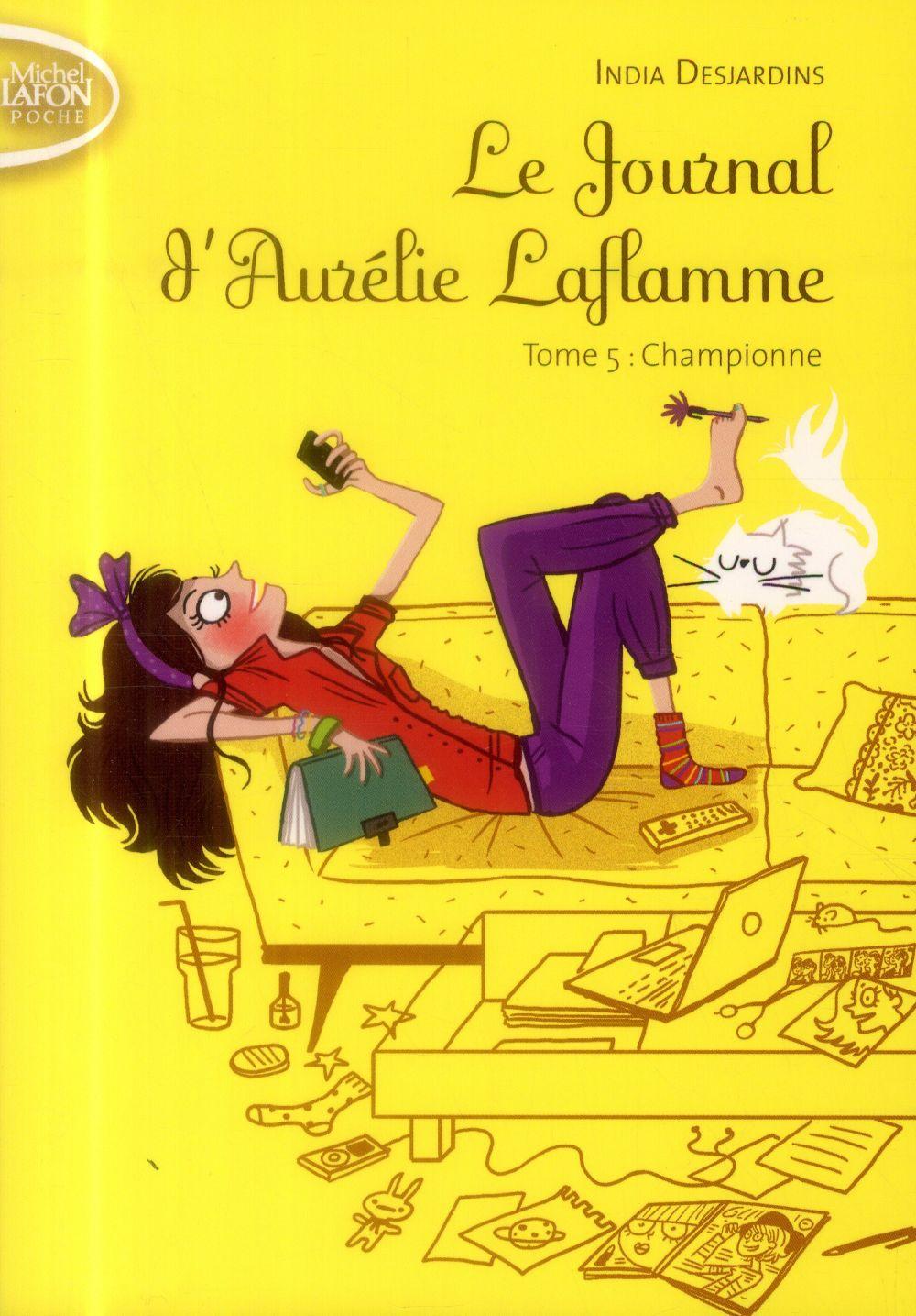 LE JOURNAL D'AURELIE LAFLAMME T05 CHAMPIONNE  POCHE