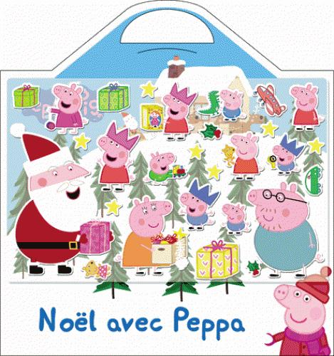 VALISETTE STICKERS MOUSSE NOEL AVEC PEPPA