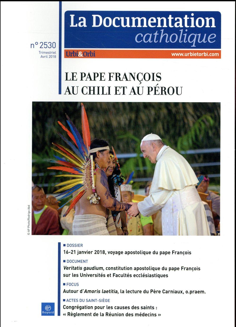 LA DOCUMENTATION CATHOLIQUE - AVRIL 2018 N  2530